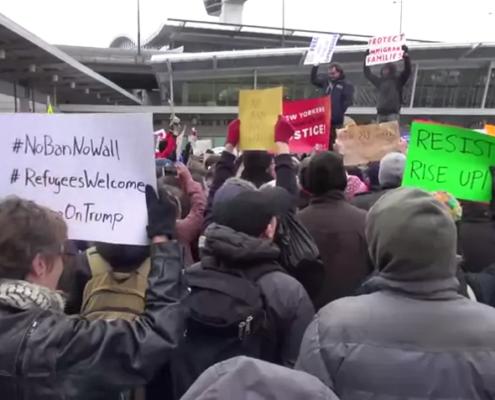 Protests at JFK Airport over Muslim Ban